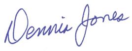 Dennis Jones Signature