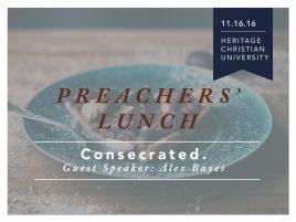 November Preachers' Luncheon